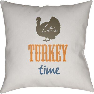 Massaro Indoor/Outdoor Throw Pillow Size: 20 H x 20 W x 4 D, Color: White/Brown/Orange/Blue