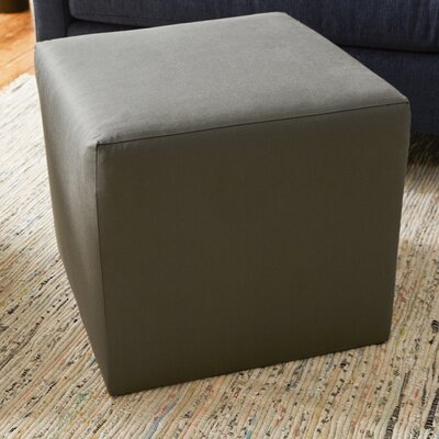 Cube Ottoman Upholstery: Gray
