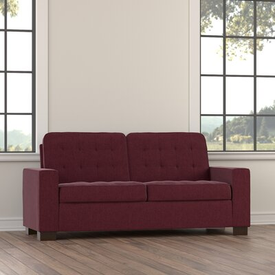 Marlar Compact Loveseat Upholstery: Red