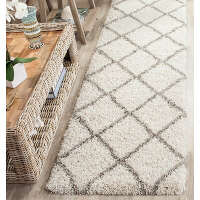 Lucina Ivory / Gray Area Rug Rug Size: Runner 23 x 8