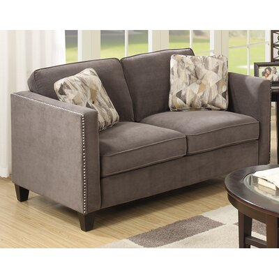 Baugh Loveseat Upholstery: Charcoal