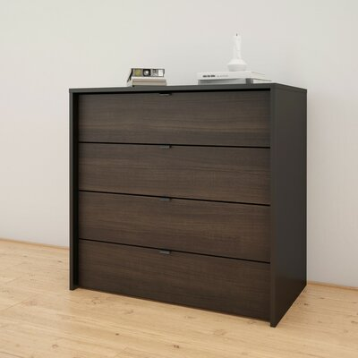Estes 4-Drawer Chest Color: Black/Ebony