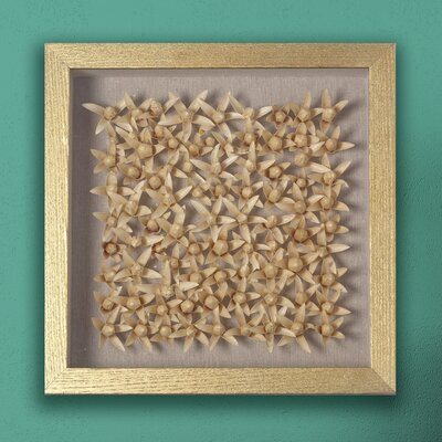 Flowering Shadow Box Gold Framed Wall Décor