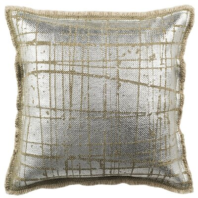 Jonah Metallic Grid Throw Pillow