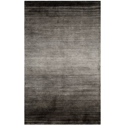 Justin Hand-Woven Black Area Rug Rug Size: Rectangle 10 x 14