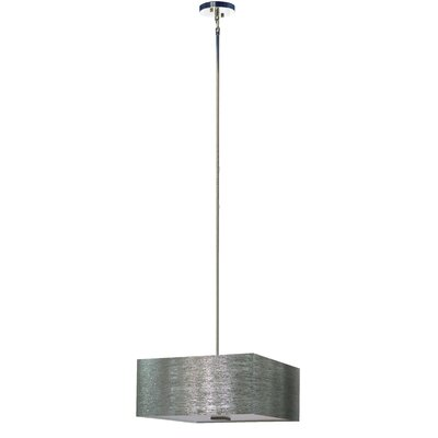 Olivo 3-Light Shaded Chandelier Shade Color: Starlight Weave