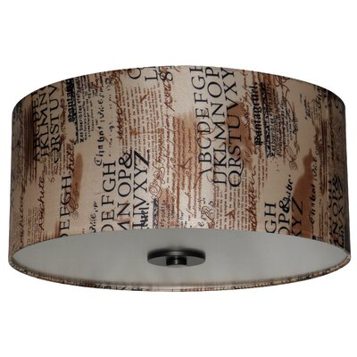 Olivo 16 Silk Drum Pendant Shade Finish: Scriptive Cinnamon