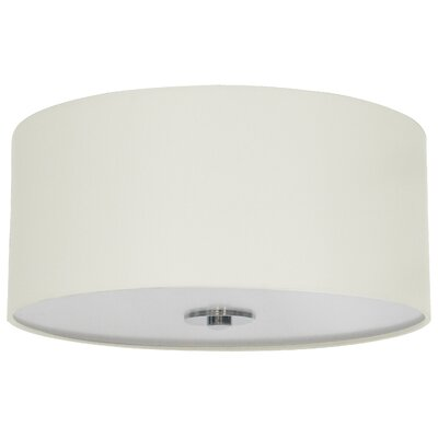 Olivo 16 Silk Drum Pendant Shade Finish: Belvedere Cream