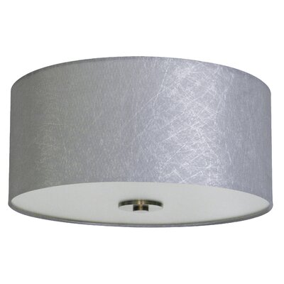 Olivo 16 Silk Drum Pendant Shade Finish: Twisted Silver