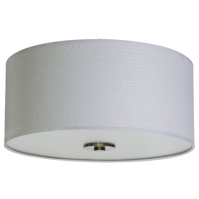 Olivo 16 Silk Drum Pendant Shade Finish: Milky Weave