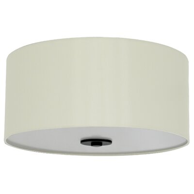 Olivo 16 Silk Drum Pendant Shade Finish: Creme Silk