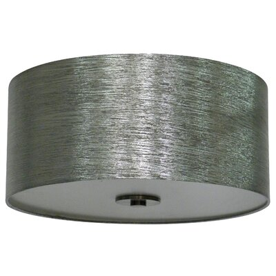 Olivo 16 Silk Drum Pendant Shade Finish: Starlight Weave