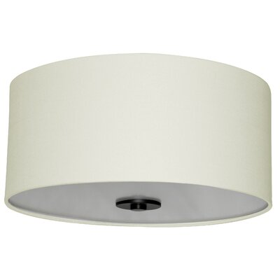 Olivo 16 Silk Drum Pendant Shade Finish: Creme Brulee Weave