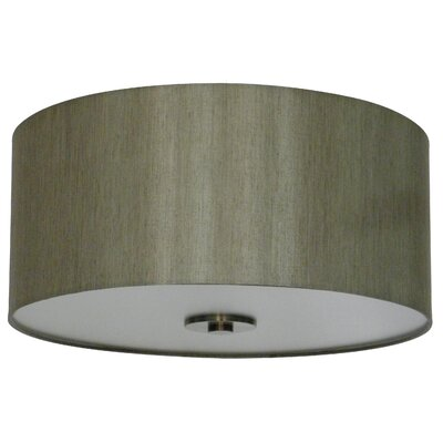 Olivo 16 Silk Drum Pendant Shade Finish: Toffee Crunch