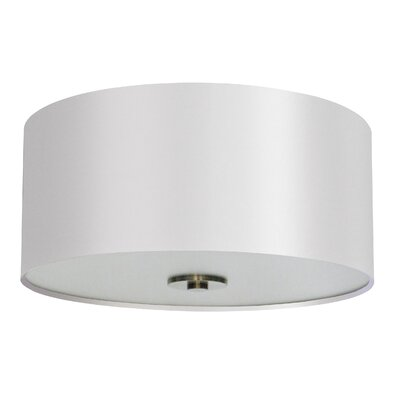 Olivo 16 Silk Drum Pendant Shade Finish: Pristine White