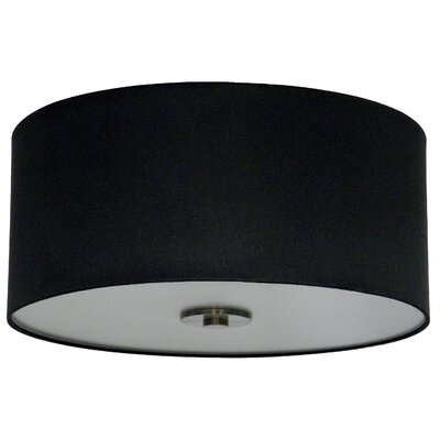 Olivo 16 Silk Drum Pendant Shade Finish: Black Stealth