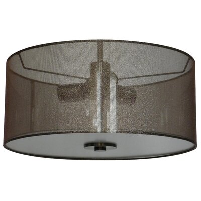 Olivo 16 Silk Drum Pendant Shade Finish: Cinerous Steel