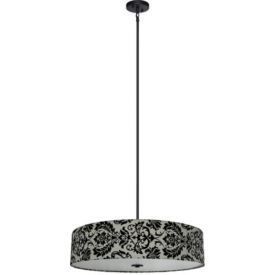 Olivo 5-Light Drum Chandelier Shade Color: White Decadence