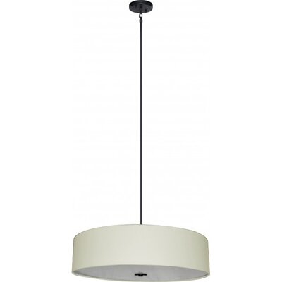 Olivo 5-Light Drum Chandelier Shade Color: Creme Brulee Weave