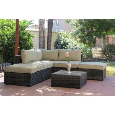 Lara 6 Piece Deep Seating Group with Cushions Fabric: Mint
