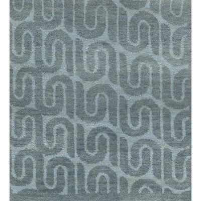 Epsilon Hand-Knotted Green/Blue Area Rug Rug Size: 6 x 9