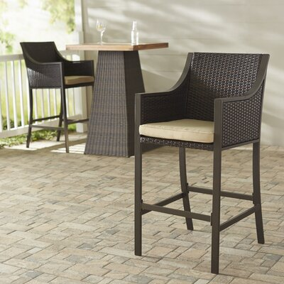 Liggins 25.25 Bar Stool with Cushion