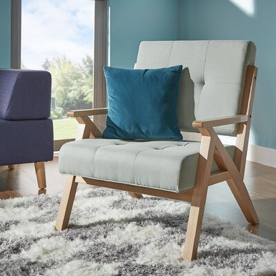 Lobato Arm Chair Upholstery: Hazy Blue