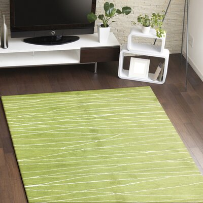 Lucus Hand-Tufted Guacamole Area Rug Rug Size: Rectangle 56 x 86