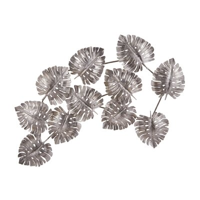 Silver Leaf Metal Wall Décor