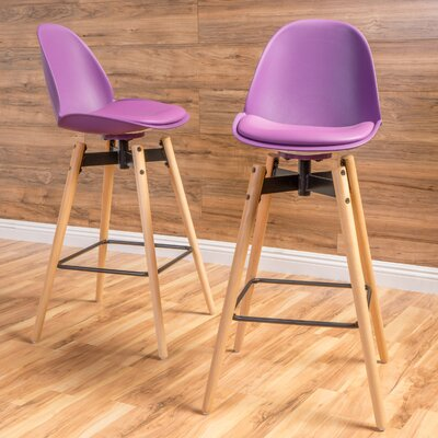 Chloris 30 Bar Stool Seat Color: Purple