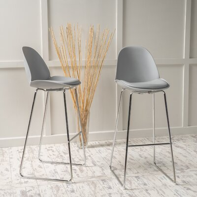 Courtdale 32.35 Bar Stool Seat Color: Gray