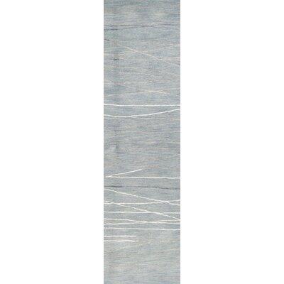 Luczak Hand-Tufted Light Blue Area Rug Rug Size: Runner 26 x 8