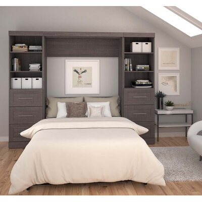Walley Full Murphy Bed Color: Gray