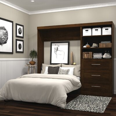 Walley Full Murphy Bed Color: Chocolate