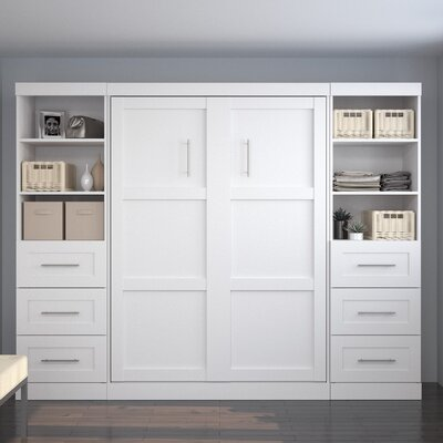 Walley Full Murphy Bed Finish: White