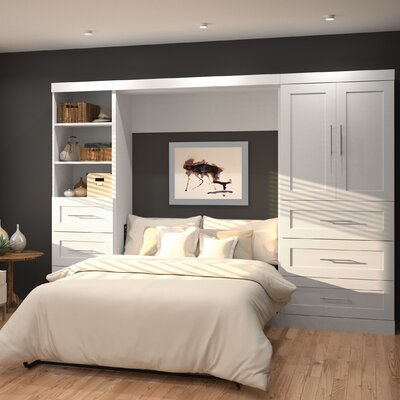 Walley Full/Double Murphy Bed Finish: White