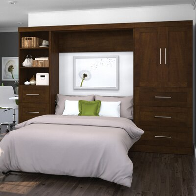 Walley Full/Double Murphy Bed Color: Chocolate