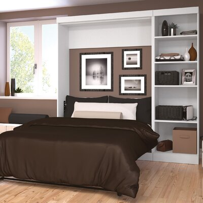 Walley Full/Double Murphy Bed Color: White