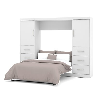 Truett Full/Double Murphy Bed Color: White