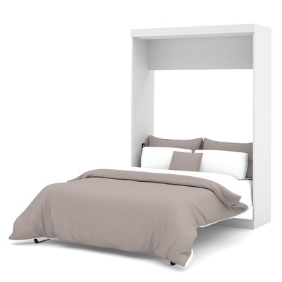 Truett Full/Double Storage Murphy Bed Color: White