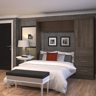 Truett Full/Double Murphy Bed Color: Antigua