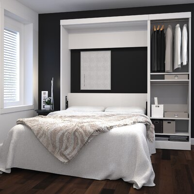 Truett Full/Double Murphy Bed Finish: White