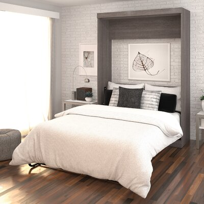 Truett Murphy Bed Color: Bark Gray/White, Size: Queen