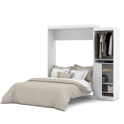 Truett Queen Murphy Bed Upholstery: White