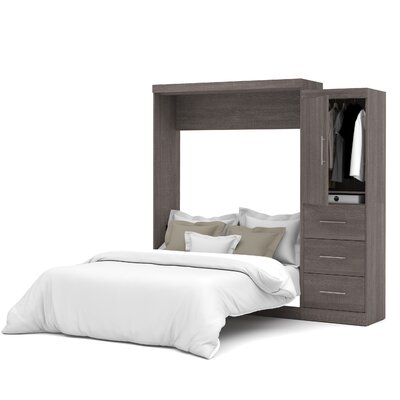 Truett Queen Murphy Bed Color: Bark Grey
