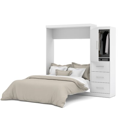 Truett Queen Murphy Bed Color: White