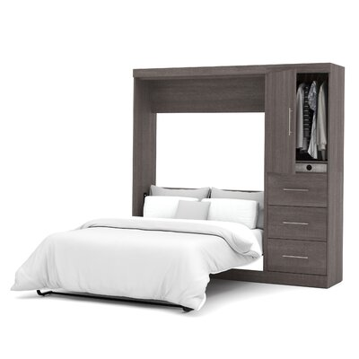 Truett Full/Double Murphy Bed Color: Bark Grey