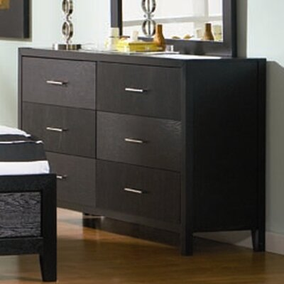 Debary 6 Drawer Double Dresser