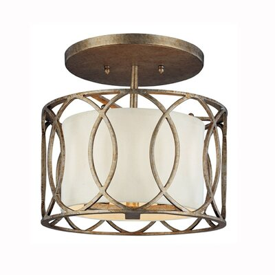 Balducci Semi Flush Mount in Silver Gold Finish: Deep Bronze