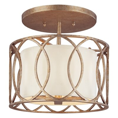 Balducci Semi Flush Mount in Silver Gold Finish: Silver Gold